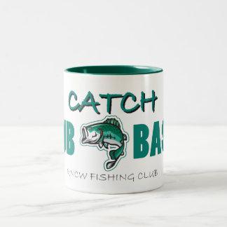 UNCWの魚釣りクラブダビングの低音のマグ ツートーンマグカップ