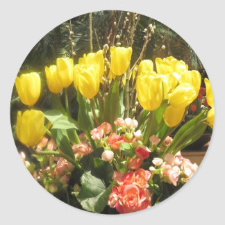 Uneのフルーアの花束はtoiを注ぎます: 花はロマンスを愛します ラウンドシール
