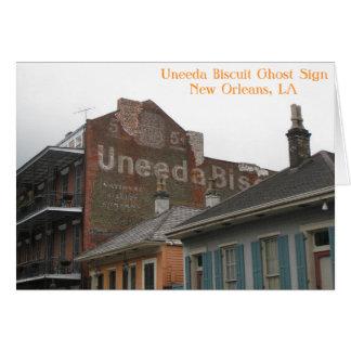 Uneedaのビスケットの幽霊の印の挨拶状 カード