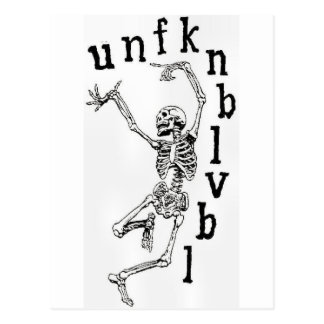 unfknblvbl -ニューエイジのmurdaショー ポストカード