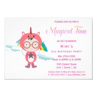 Unicorn costume party カード