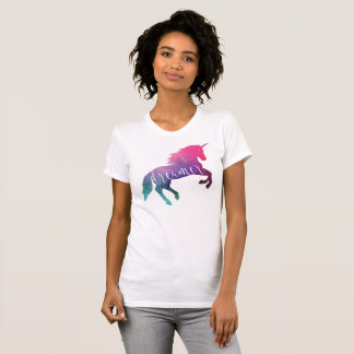 Unicorn Sparkle Space Galaxy Dreamer Tシャツ