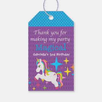 Unicorn Thanks For Making my Party Magical Tag ギフトタグ