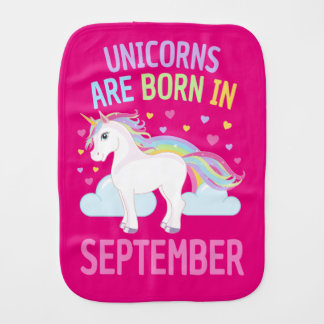 Unicorns are Born in September Cute Unicorn バープクロス