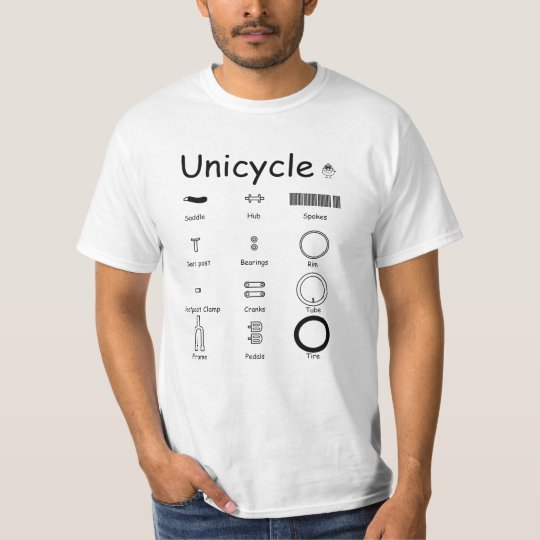 Unicycle parts tシャツ