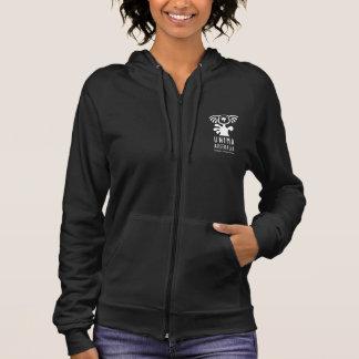 UNIMAオーストラリアレディースフリースのジッパーのフード付きスウェットシャツ パーカ