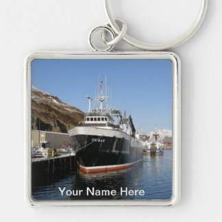 Unimakのオランダ港、アラスカの工場トロール船 キーホルダー