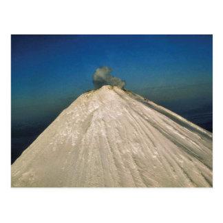 Unimakの島、Shishaldenの火山 ポストカード