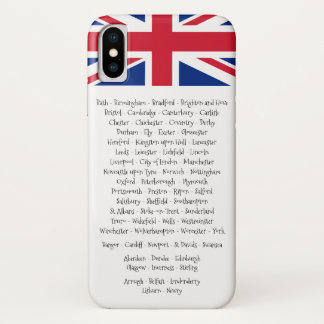Union Jack British Cities Of the 4 Countries iPhone X ケース