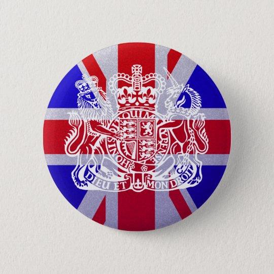 Union Jack & Seal 5.7cm 丸型バッジ