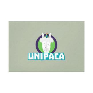 UnipacaのユニコーンのアルパカZ67aj キャンバスプリント