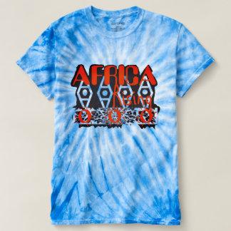 Unisex Orange Blue Graphic Tie Dye Top Tシャツ