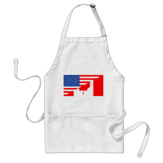 united states america canada half flag usa country スタンダードエプロン