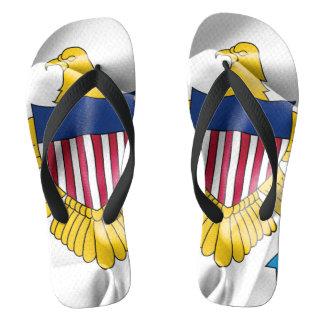 United States Virgin Islands Flag Flip Flops ビーチサンダル
