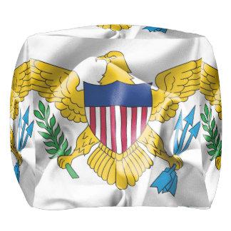 United States Virgin Islands Flag Pouf プーフ