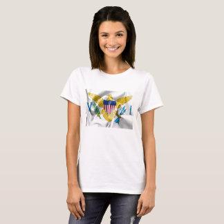 United States Virgin Islands Flag Women's T-Shirt Tシャツ