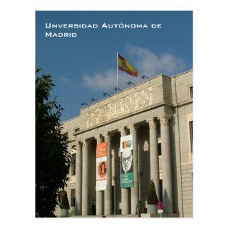 Universidad Autonoma deマドリード ポストカード