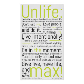 Unliferの声明 ポスター