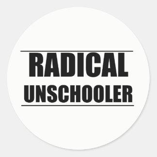 Unschoolerの根本的なステッカー ラウンドシール