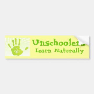 Unschoolersは自然に学びます バンパーステッカー