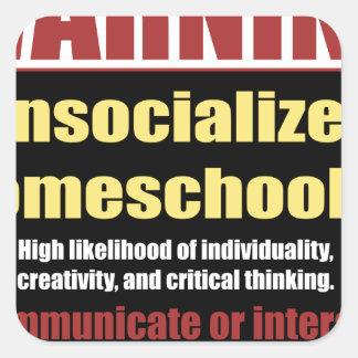 unsocialized homeschoolers スクエアシール