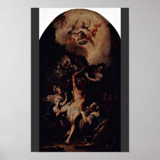 Unterbergerミケランジェロ著St.セバスチャン ポスター