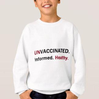 unvaccinated知識のある健康なfront.png スウェットシャツ