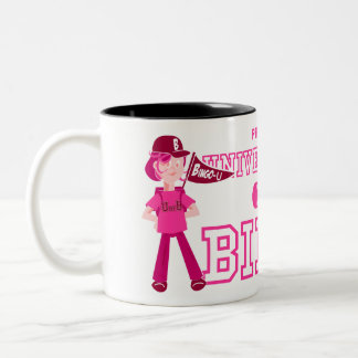 UofBのピンクのキャラクターのマグ ツートーンマグカップ