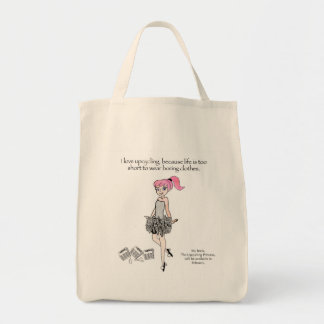 Upcyclingのあなたの内部のプリンセスのための買い物袋 トートバッグ