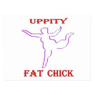Uppity脂肪質のひよこ ポストカード
