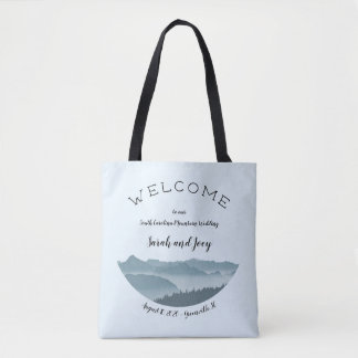 Upscale Misty Mountain Wedding Welcome Bag トートバッグ