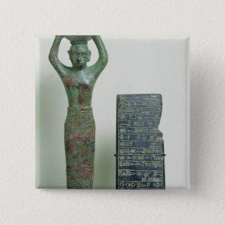 Ur、紀元前のc.2040のAmar罪王の宝物 5.1cm 正方形バッジ