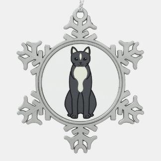 Uralのレックス猫の漫画 スノーフレークピューターオーナメント