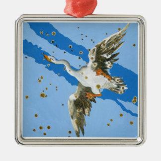 「Uranometria」のwritteからの白鳥座の星座、 メタルオーナメント