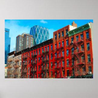 "Urban59スタジオ""第9 Ave。 NYCの""地獄の台所 ポスター"