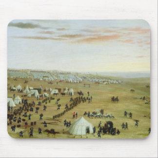Uruguaianaのキャンプ、リオ・グランデ川、ブラジル1865年(油 マウスパッド