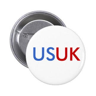 US/UK 5.7CM 丸型バッジ