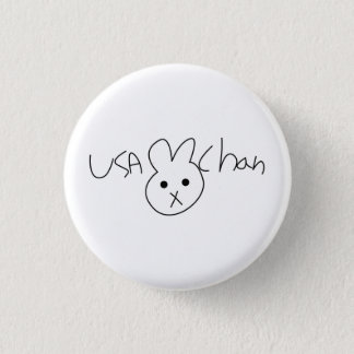USA-CHAN Hetaliaボタンのバッジ 3.2cm 丸型バッジ