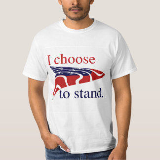 USA Flag I Choose to Stand Tシャツ