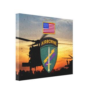 USACAPOC特別なOpsの退役軍人の獣医パッチ キャンバスプリント