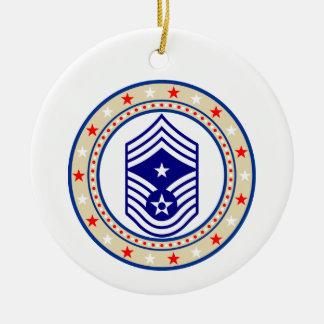 USAF命令主な一等軍曹E-9 CCM Sgt 陶器製丸型オーナメント