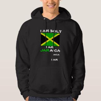 Usainのボルト、ジャマイカのフード付きスウェットシャツ及びスエットシャツ パーカ