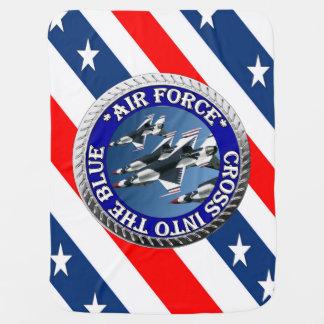 USAIRFORCEFANMERCHの空軍デザイン ベビー ブランケット