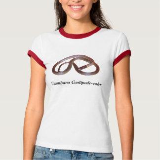 Usambaraのムカデ食べる人の女性信号器のTシャツ Tシャツ