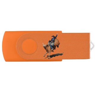 USB装置のロデオのカウボーイそしてBullの強く反対する芸術 USBフラッシュドライブ