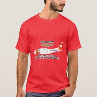 USCGの空中撮影点のマイアミの空気乗組員 Tシャツ