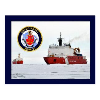 USCGの粋氷船HEALYのボーフォート海、アラスカ ポストカード