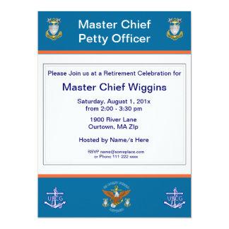 USCG MCPOのワシのいかりの退職の招待状 カード