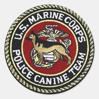 USMCのイヌ科動物のチーム ラウンドシール