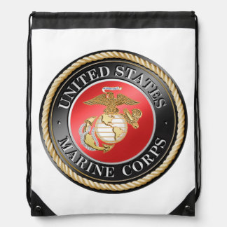 USMCのドローストリングのバックパック ナップサック